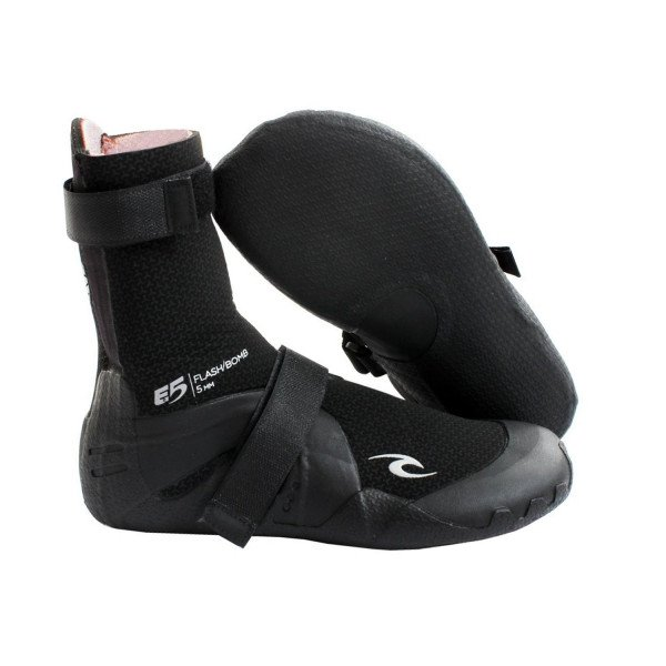 RIP CURL BOOTS FLASH BOMB 5 MM ROUND TOE BLACK