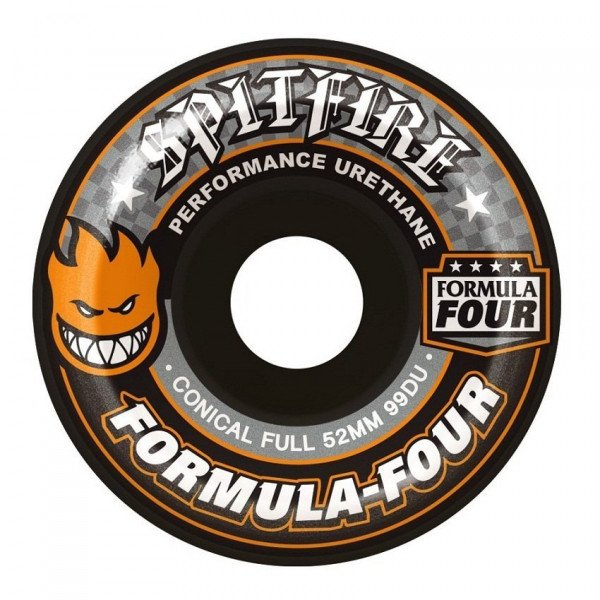 SPITFIRE SK8RITEŅI FORMULA FOUR FULL BLACK CONICAL FULL