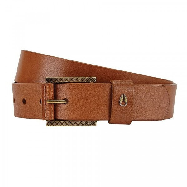 NIXON JOSTA AMERICANA SLIM BELT II HONEY BROWN