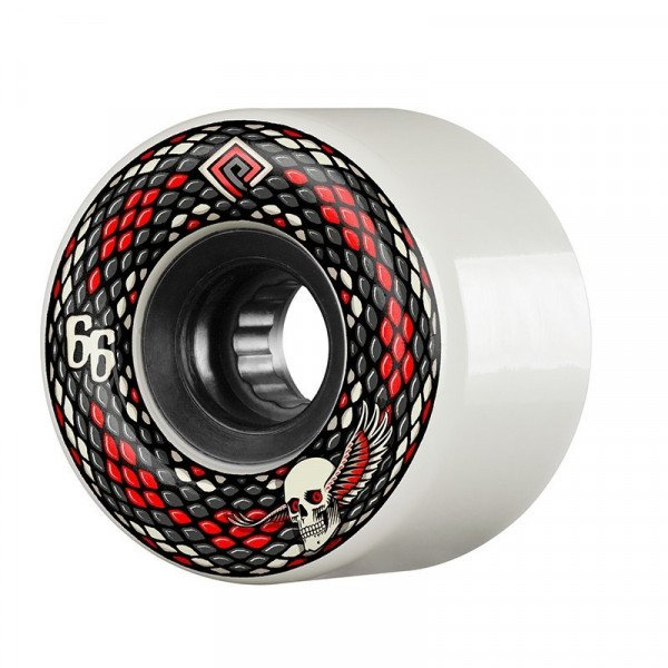 POWELL PERALTA WHEELS SNAKES 66 MM 75A WHITE
