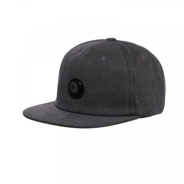 STUSSY CEPURE 8-BALL STRAPBACK CAP BLACK