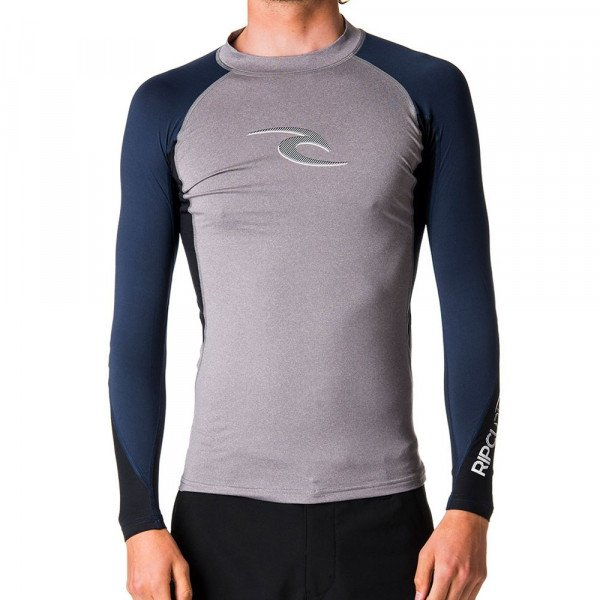RIP CURL LIKRA WAVE L/SL UV TEE GREY S18