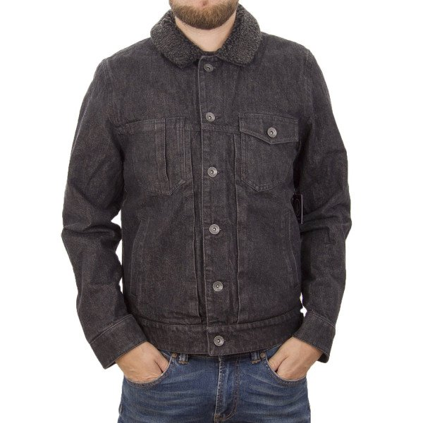 VOLCOM JAKA MACBACK DENIM JACKET BLK F15