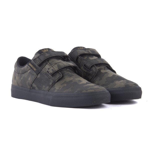 SUPRA SHOES STACKS VULC II V CAMO BLACK