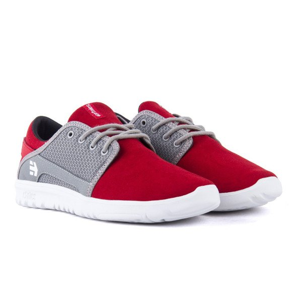 ETNIES APAVI SCOUT KIDS RED GREY WHITE S18