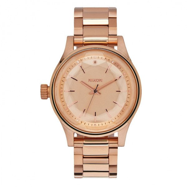 NIXON PULKSTENIS FACET 38 ALL ROSE GOLD