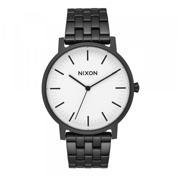 NIXON WATCH PORTER MATTE BLACK WHITE