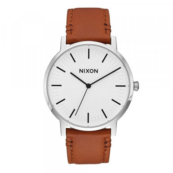 NIXON WATCH PORTER LEATHER WHITE SUNRAY SADDLE