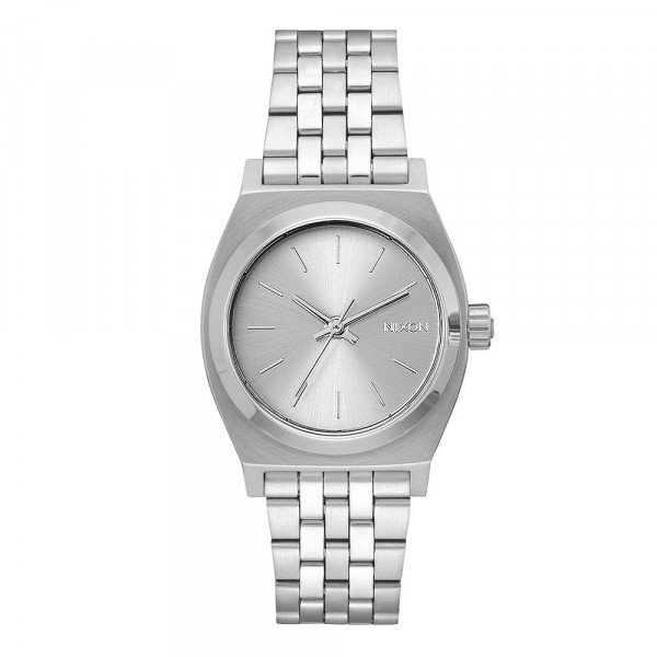 NIXON WATCH MEDIUM TIME TELLER ALL SILVER