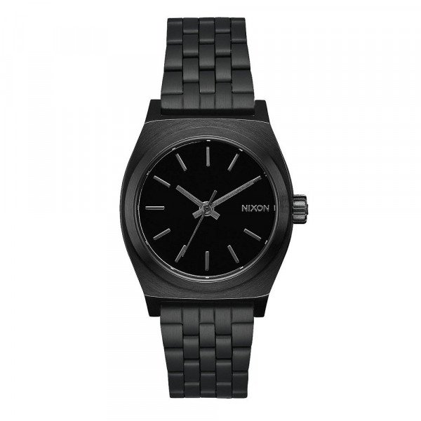NIXON PULKSTENIS MEDIUM TIME TELLER ALL BLACK