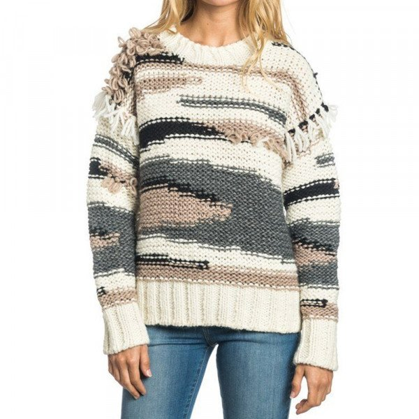RIP CURL DŽEMPERIS LIMACHE SWEATER WHITE SMOKE W16