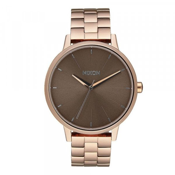 NIXON WATCH KENSINGTON ROSE GOLD TAUPE