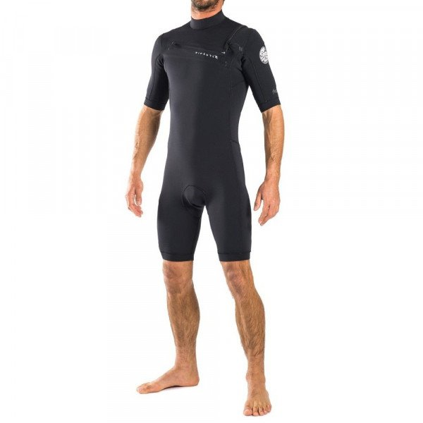 RIP CURL HIDRA AGGRO L/SL 22 CHEST ZIP BLACK S17