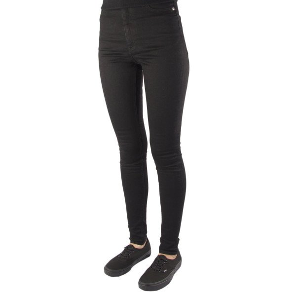 CHEAP MONDAY JEANS HIGH SKIN SNAP BLACK COAL