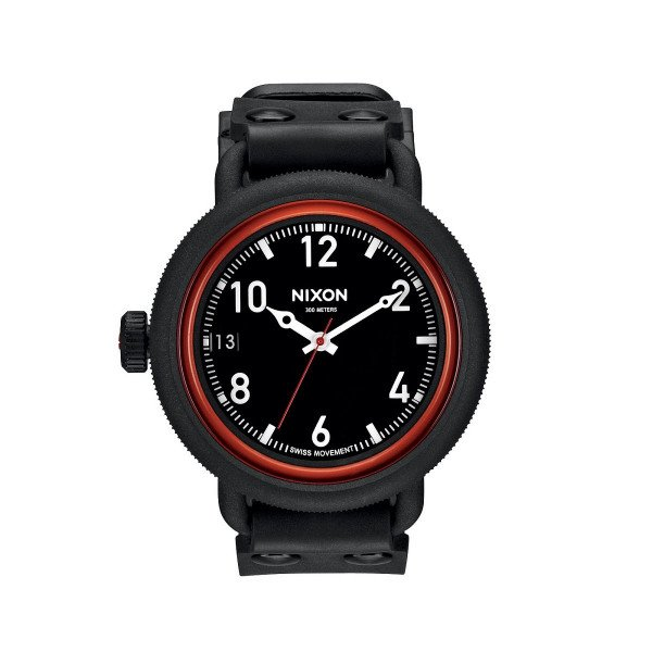 NIXON PULKSTENIS OCTOBER ALL BLACK/RED