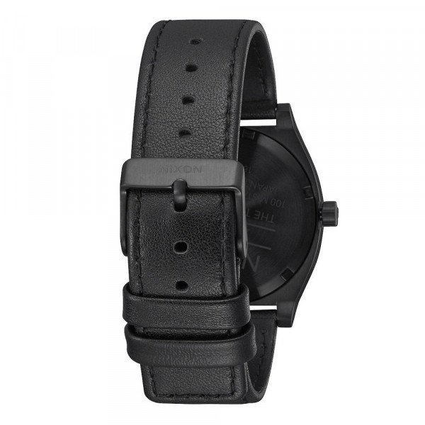 NIXON PULKSTENIS TIME TELLER ALL BLACK WHITE