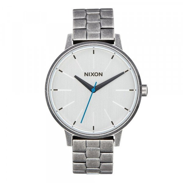 NIXON WATCH KENSINGTON SILVER ANTIQUE