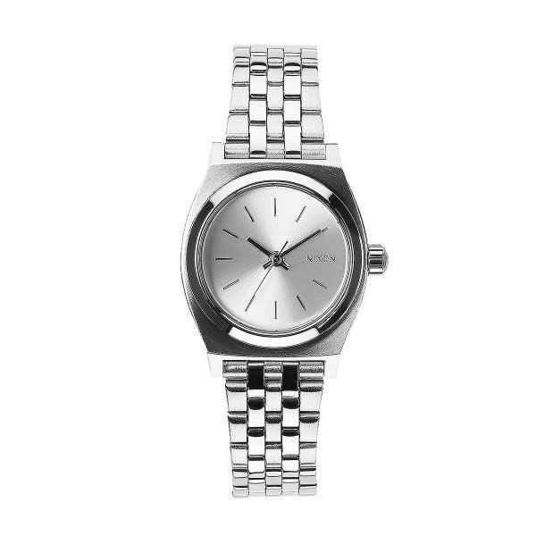 NIXON PULKSTENIS SMALL TIME TELLER ALL SILVER