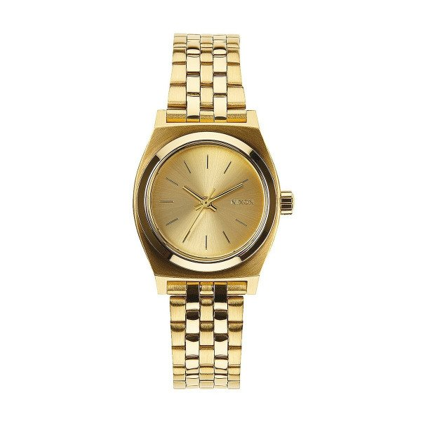 NIXON PULKSTENIS SMALL TIME TELLER ALL GOLD