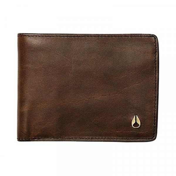 NIXON MAKS ARC SE BI-FOLD WALLET BLACK BROWN