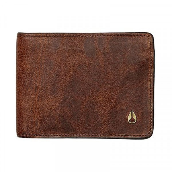 NIXON MAKS ARC SE BI-FOLD WALLET BROWN