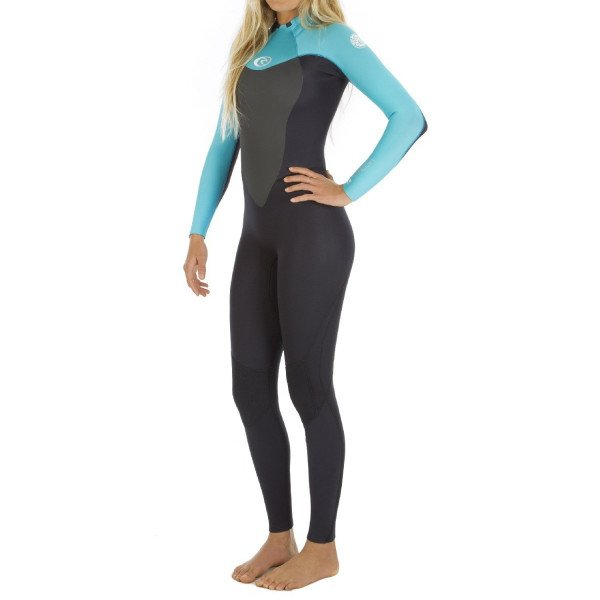 RIP CURL WETSUIT OMEGA 43 GB BACK ZIP TURQUOISE S16