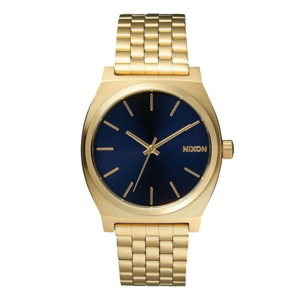 NIXON WATCH TIME TELLER ALL LIGHT GOLD COBALT
