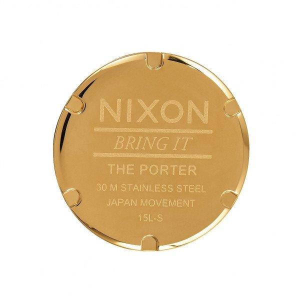 NIXON PULKSTENIS PORTER NYLON GOLD WHITE RED