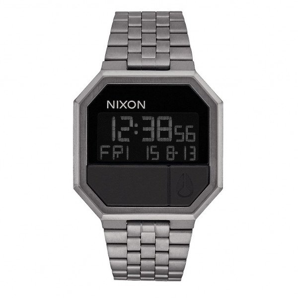 NIXON PULKSTENIS RE-RUN ALL GUNMETAL