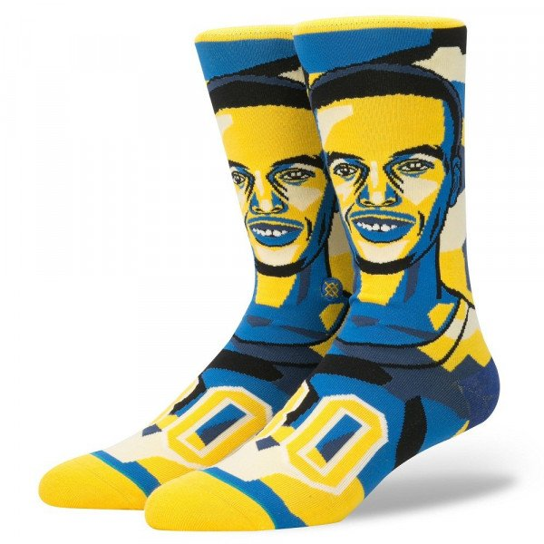 STANCE SOCKS NBA FUTURE LEGENDS MOSAIC CURRY YELLOW