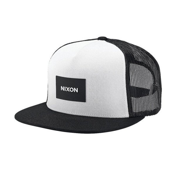 NIXON CEPURE TEAM TRUCKER HAT BLACK WHITE