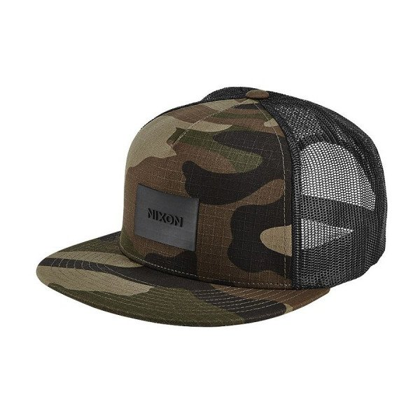 NIXON CEPURE TEAM TRUCKER HAT WOODLAND CAMO