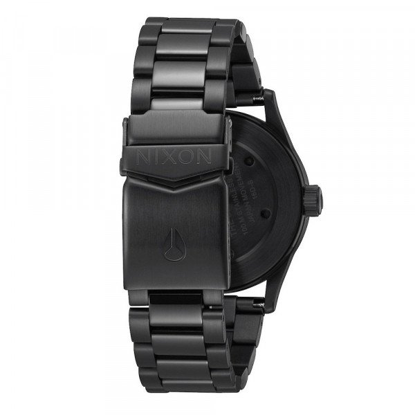 NIXON PULKSTENIS SENTRY 38 SS ALL BLACK SILVER