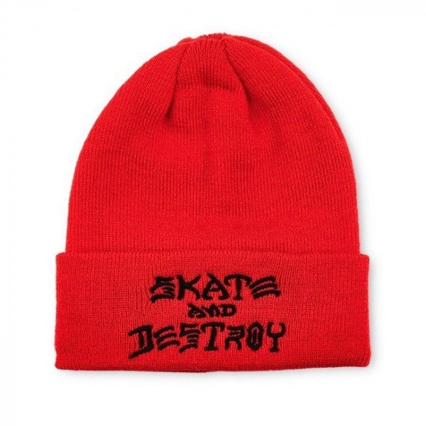 THRASHER CEPURE SAD EMB BEANIE RED F17