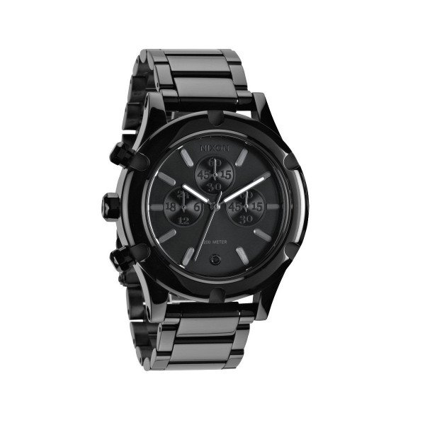 NIXON PULKSTENIS CAMDEN CHRONO ALL BLACK