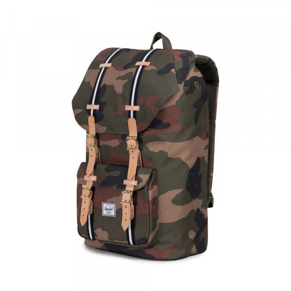 HERSCHEL SOMA LITTLE AMERICA WOODLAND CAMO BLACK