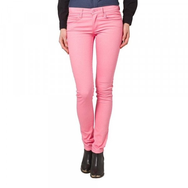 CHEAP MONDAY DŽINSI ZIP LOW SATIN PINK