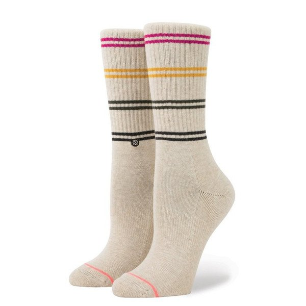 STANCE ZEĶES BLUE WOMEN JAH CREW OATMEAL HEATHER