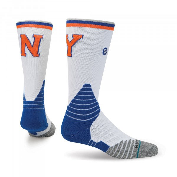 STANCE SOCKS NBA ONCOURT KNICKS CORE CREW WHITE