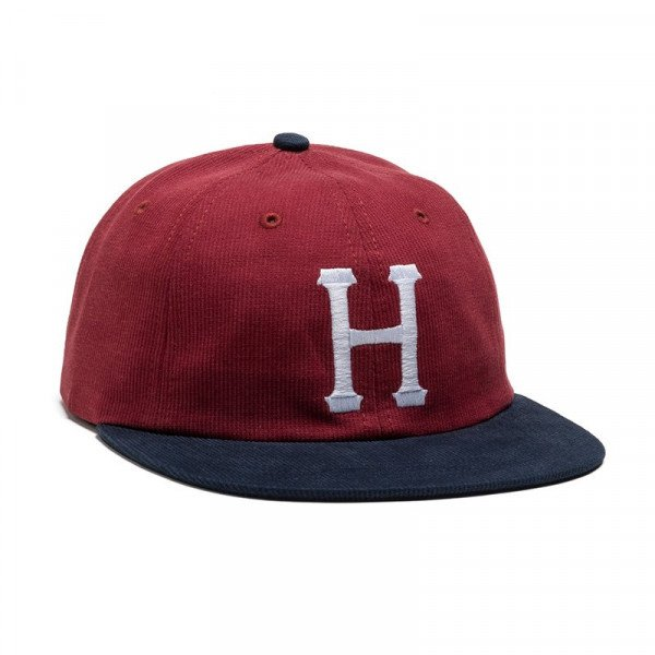 HUF CEPURE CLASSIC H 6 PANEL BEDFORD CORD NAVY HENNA F17