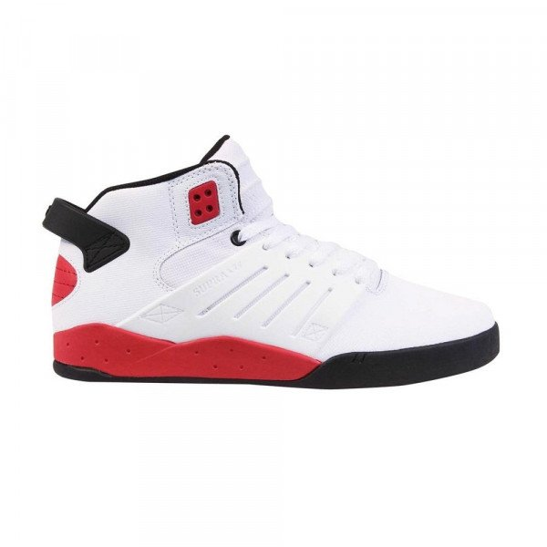 SUPRA SHOES SKYTOP III WHITE BLACK RED SP13