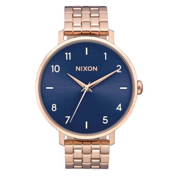 NIXON WATCH ARROW ROSE GOLD STEEL BLUE