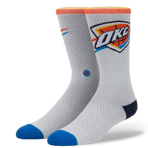 STANCE ZEĶES NBA ARENA THUNDER JERSEY WHITE