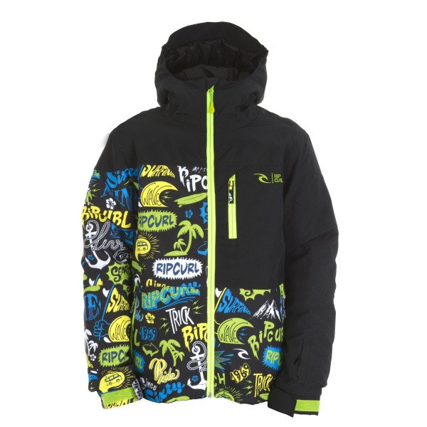 RIP CURL JACKET ENIGMA PRINTED JR LIME GREEN W15