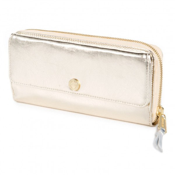 HERSCHEL WALLET AVENUE TEXTURED GOLD SILVER H15