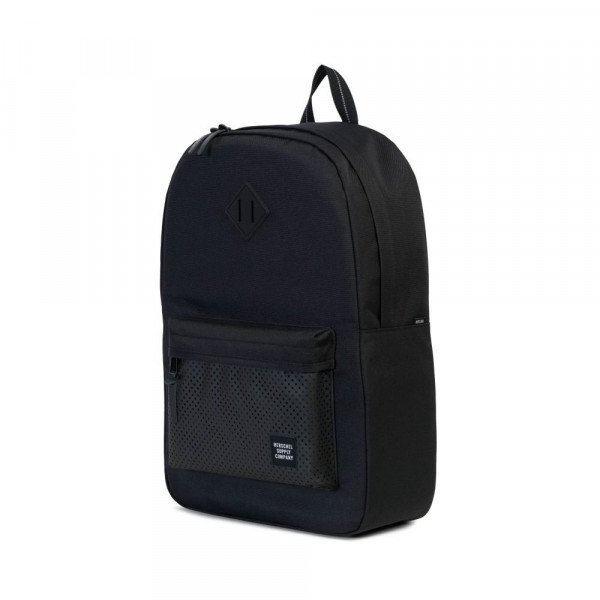 HERSCHEL BACKPACK HERITAGE BLACK RUBBER
