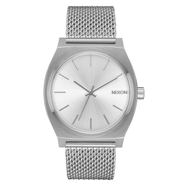 NIXON PULKSTENIS TIME TELLER MILANESE ALL SILVER
