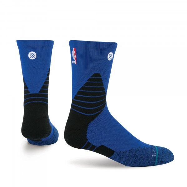 STANCE SOCKS NBA ONCOURT SOLID QTR BLUE