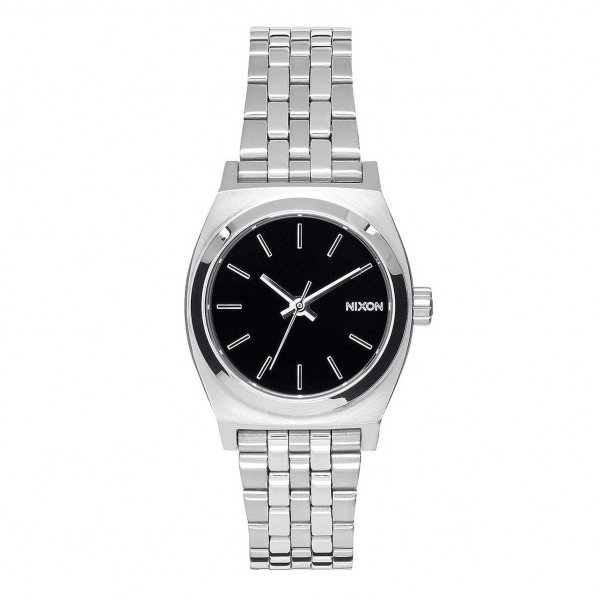 NIXON PULKSTENIS SMALL TIME TELLER BLACK