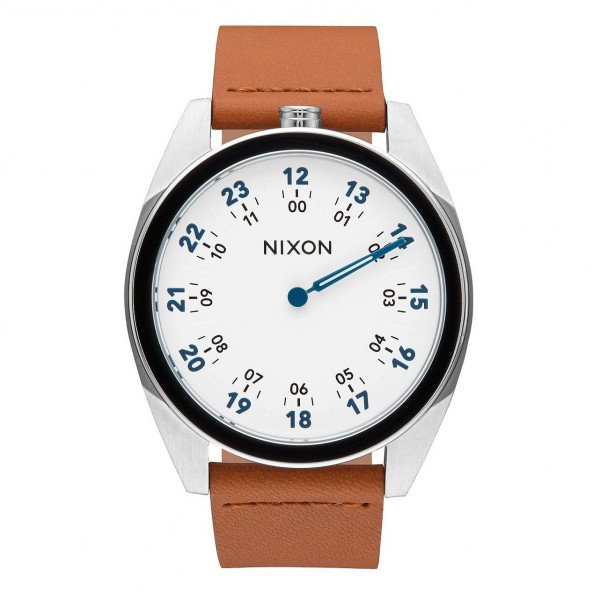 NIXON WATCH GENESIS LEATHER WHITE SADDLE